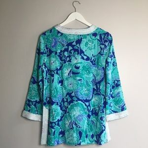 Lilly Pulitzer Tops - Lilly Pulitzer Renato Tunic Mint To Be Elephants